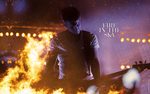 Fire in the Sky | Georg Listing wallpaper by DarknessEndless