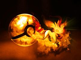 The Pokeball of Ghost Leafeon