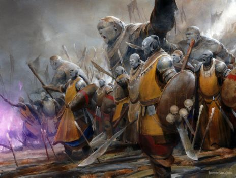 Orc Throng by joewardart
