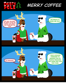 [North Pole 1] Merry Coffee by CK-was-HERE