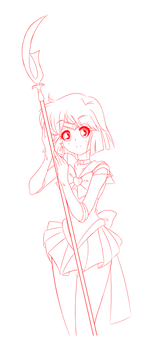[SKETCH] Sailor Saturn by xXPudding-CakeXx