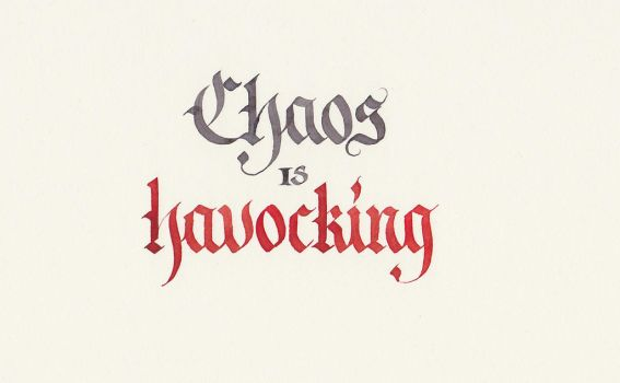 Chaos is Havocking by MShades