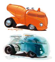 Hot Wheels Volkswagen concepts by candyrod