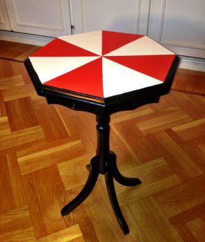 Umbrella Corporation table by Alex-the-Irregular