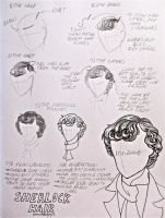 How To Draw Sherlock's Hair by LucyLooStudios