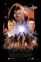 Star Wars VII Poster by Ticiano