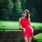 The woman in red by DmitryElizarov
