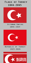 Flags of Turkey: 1844-2045 by YNot1989