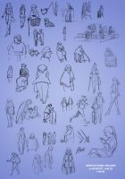 Life Drawing: City People by AmberDust
