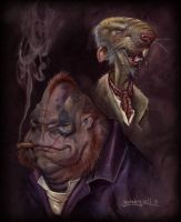 A Portrait of Findus and Ross by Kaduflyer