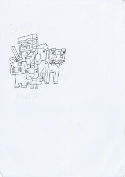 my minecraft drawing for my youtube channel by darowadrawings