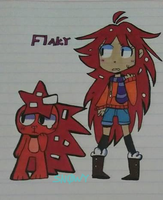 Flaky (Humanized)-HTF[TradicionalArt] by SnowyAcorN