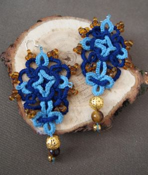 Blue earrings by MirachRavaia
