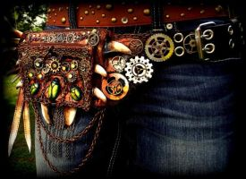 -SOLD- Steampunk Belt Pack! by Wood-Splitter-Lee