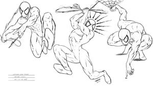 Spiderman Poses by robertmarzullo