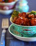 Orange Chicken n Broccoli Beef Over Rice by theresahelmer