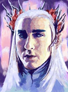 Thranduil - The Elven King of Mirkwood by dango-Yullen-soba