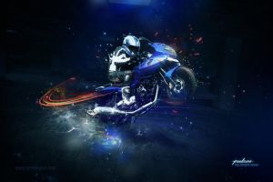 bajaj pulsar wallpaper 1 by el-el