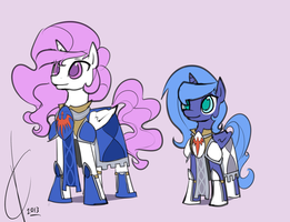 Sisters in Armor by Dreatos