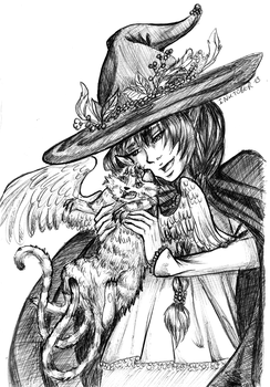Witch and Her Demon Cat by Hikari-chyan