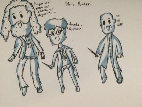 Harry Potter In Adventure Time Style by BenjisArt