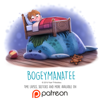 Day 1435. Bogeymanatee by Cryptid-Creations