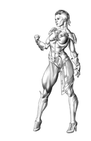 Captain Marvel WIP by Orr-Malus