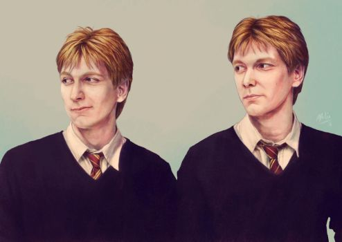 Weasley Twins by Atarial
