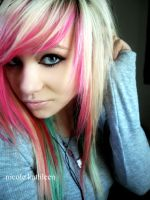 new portrait pink hair by nicole-x-kathleen