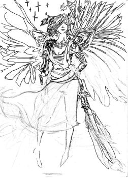 Angel sketch by whaleclouds