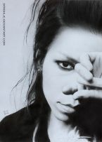 Aoi - pencil drawing by DFrohlic