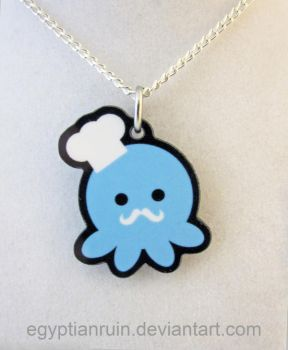 Chef Octopus Necklace by egyptianruin