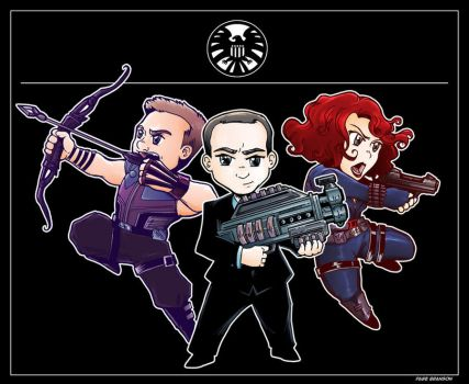 Agents of SHIELD- Chibi version by Saturn-Kitty