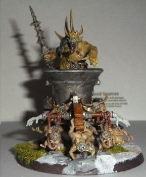 Nurgle Herald On Palanquin by Dible