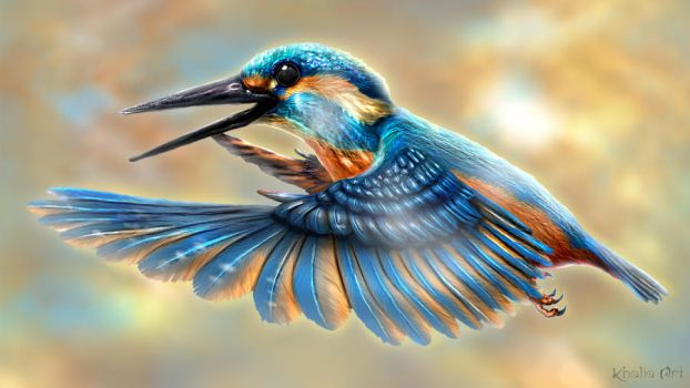 The King of Kingfishers by KhaliaArt