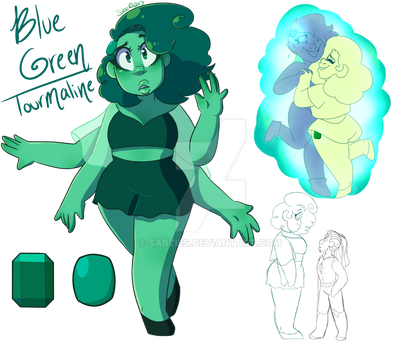 Blue Green Tourmaline Fusion by Geekygirl3000