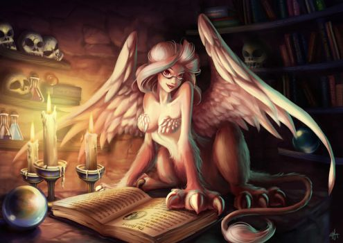 The Sphinx in her Lair by goldfishkang
