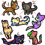 Cat Adoptables!!! - 2/7 OPEN!!! by XxGoldenSketchxX