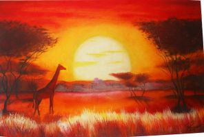 african landscape by nagogore