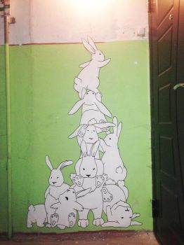 A small mural for friends by tiN-naR