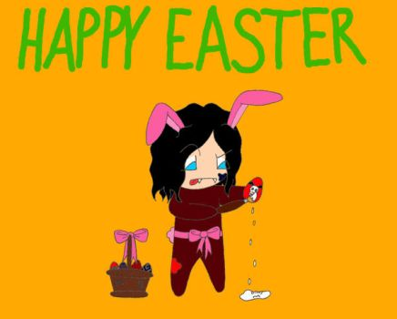 mael -easter bunny of darkness by the1cutemetalchick