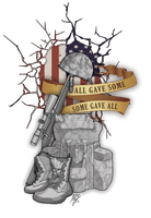 All Gave Some. Some Gave All - Soldier Tribute by MessyArtwok