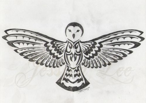 Tribal Barn Owl by daftopia