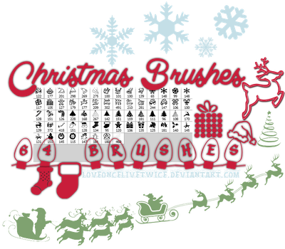 Christmas Brushes - Part 1 of Christmas Pack by loveoncelivetwice