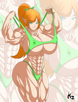 Commission - OC Kitumoe (Muscular Version) by KazBR