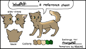 WoodPelt's Reference Sheet by MoonLight1467