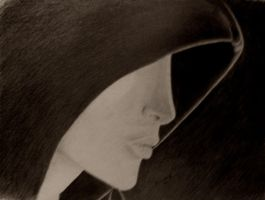 hooded face 1 by saralee1125