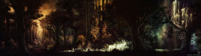 Owl Woods by black-dicefish