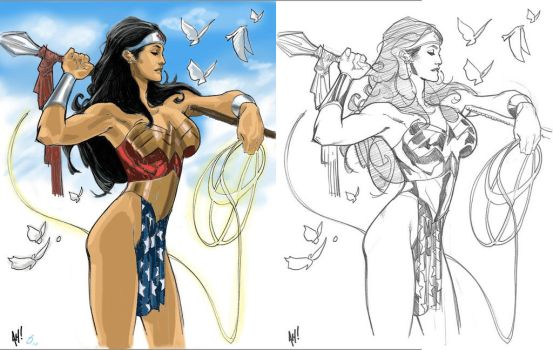 WW digital colors under AH drawing brilliance by jediboy