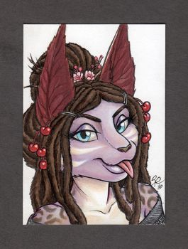 Cera ACEO Color Portrait by ScullyRaptor